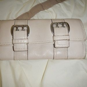 Michael Kors Leather Double-Buckle Wallet